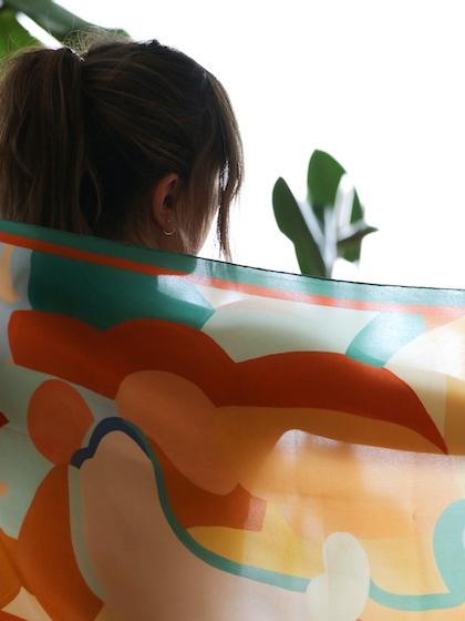 Pañuelo de seda mujer