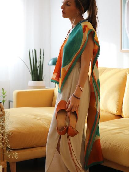 Fular de seda mujer
