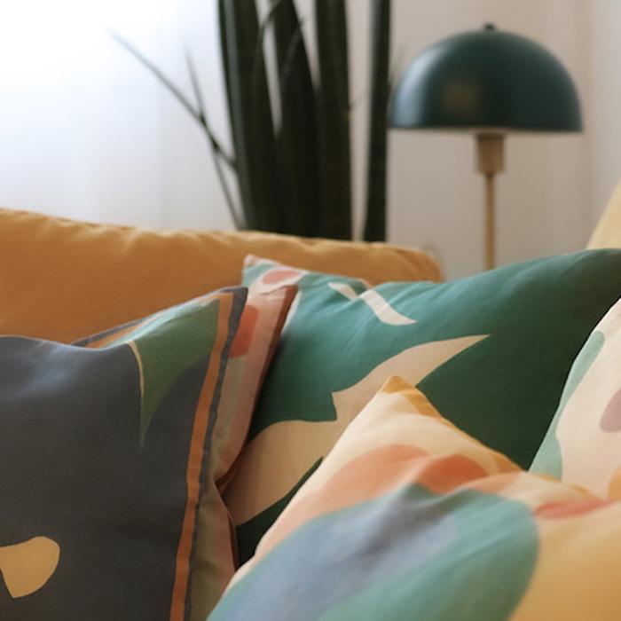 Cojines  estampados en lino 100%   Almudena Laborda