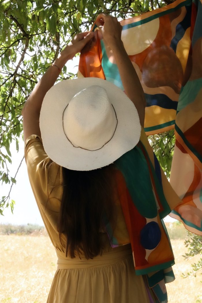 Pañuelos seda italiana, lana Inglesa Almudena Laborda